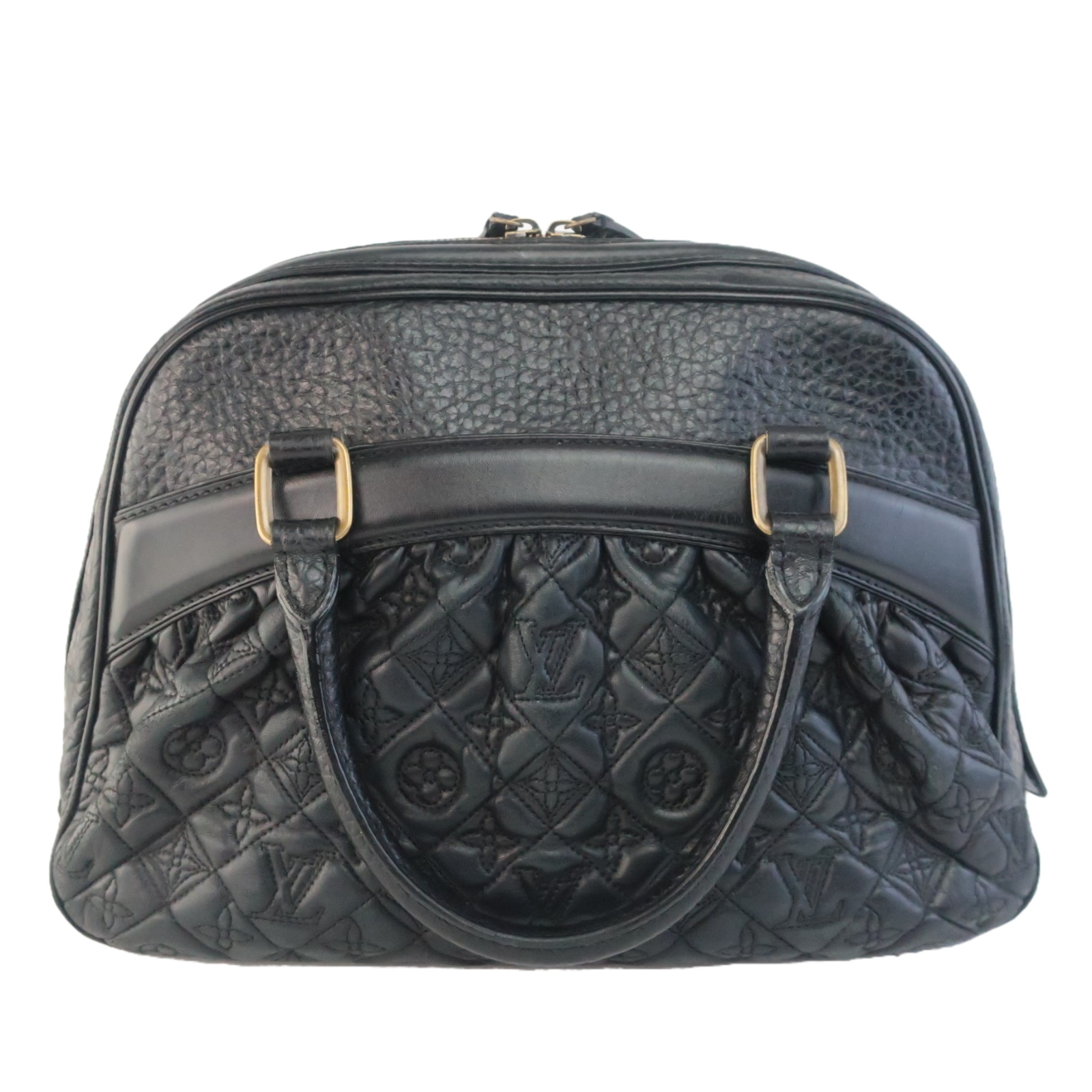 Primary image for Louis Vuitton Black Limited Edition Leather Mizi Vienna Bag