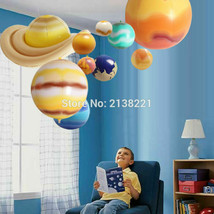 10 PCs Educational Balloons Solar System Galaxy Planets Inflatable Toys ... - $29.69