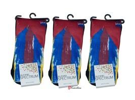 Alfani Spectrum Men's Socks 3-Pair Value Pack Red Blue Yellow White Cotton $24 - $9.58
