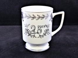 Vtg Lefton China Japan 25th Silver Anniversary Footed Commemmorative Cup/Mug - $5.00