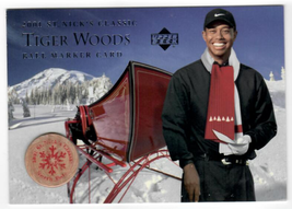 2001 Upper Deck St Nick's Classic Ball Marker Card # Tiger Woods Hobby S... - $99.99