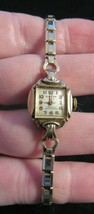 Vintage Ladies ALBLOND Wrist Watch 1950's WIND Mechanical 10K GOLD rgp 1... - $23.36