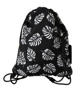 Men's Dolce & Gabbana Drawstring Nap Sack Bag Black Palm Leaves - £253.77 GBP