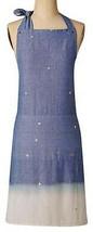Anthropologie Sand + Surf Apron Blue White Mom Shower Wedding Gift Chamb... - £30.21 GBP