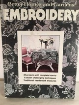 Needlework Better Homes And Gardens Embroidery Book 42 Projects Traditio... - $11.85