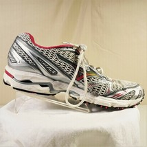 Mizuno Wave Rider 12 Womens Athletic Shoes Silver Gray And Pink Size 8 - $24.00