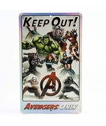 Open Road Brands Avengers Keep Out Embossed Metal Sign - $14.11