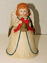 Vintage Homco Ceramic Angel Christmas Bell #5105 Festive Winter Holiday ... - $9.90