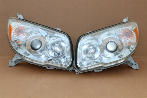 06-09 Toyota 4Runner Projector Headlight Head Light Lamps Set Pair L&R POLISHED