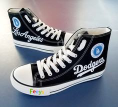 los angeles dodgers shoes womens dodgers sneakers fashion high top baseball shoe - $59.99