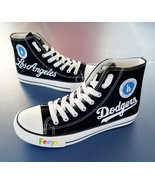 los angeles dodgers shoes womens dodgers sneakers fashion high top baseb... - $55.00+