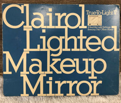 VTG 1971 Clairol True To Light V Lighted Make Up Mirror. BNIB ORIGINAL B... - $72.26