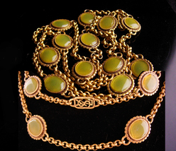 Vintage Yves Saint Laurent necklace - Gripoix glass - French jewelry - o... - $975.00