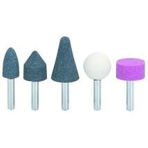 "5 Pc Stone Rotary Grinding Bits W/ 1/4"" Shank Cut deburr polish stones - $15.81"