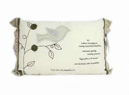"""Donna Downey Art Of Possibility Natural Home Collection Decor Pillow 12""""... - $8.51"""