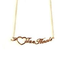 "NCAA North Carolina Heart Script Necklace - Chain Logo Team 18"" Jewelry ... - $7.87"