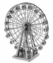 Metallic Nano Puzzle Ferris wheel Tenyo Silver High quality metal model - $37.29