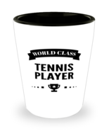 World Class Tennis Player Shot Glass - 1.5 oz Ceramic Cup For Sports Fans  - $12.95