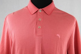 Tommy Bahama Mens Pink Short Sleeve Polo Shirt sz L Large - $39.55