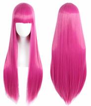 For Halloween Cosplay Princess Bubblegum Adventure Time Pink Long Straig... - $22.76