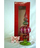 "Waterford Marquis Venetian Line Carnivale Tree Topper 11 1/2"" NIB RARE P... - $144.89"