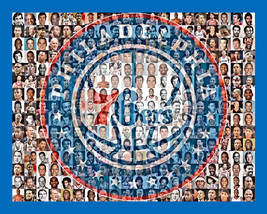 Philadelphia 76ers Mosaic Print Art Designed Using 70 Player Photos From... - $24.99+