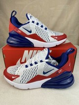 Nike Air Max 270 GS Shoes White/Red/Blue CW5855-100 Youth Size 5.5Y Wome... - $123.70