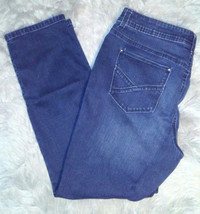Chicos 2 So Slimming Jeans Womens Size 12 Skinny Dark Wash Zipper Ankles... - $19.80