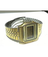 SEIKO VINTAGE DIGITAL A914-5A09 IN GOOD CONDITION FULL FUNCTIONAL GOLD TONE - $154.28