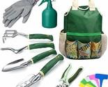 Delxo Gardening Tools Set,9 Piece Garden Tool Kit Garden Tools Set with Storage