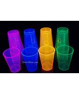 12oz 40ct Assorted Blacklight Reactive Hard Plastic Cups + Blacklight Ba... - $21.95