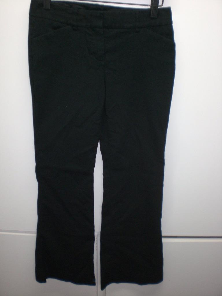 Primary image for W13626 Womens EXPRESS Black Editor Stretch BOOT CUT SLACKS Pants 0S Petite