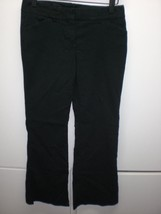 W13626 Womens EXPRESS Black Editor Stretch BOOT CUT SLACKS Pants 0S Petite - $28.92