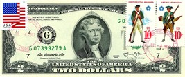$2 DOLLARS 2013 STAMP CANCEL JUL. 4 LUCKY MONEY & MILITARY UNIFORM VALU... - $89.96