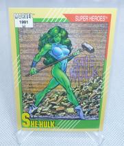1991 Impel Marvel Super Heroes SHE-HULK Trading Card #43 NICE - $3.95