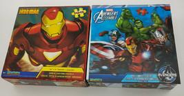 Marvel Magic Motion Lenticular Puzzle 100pc LOT OF 2 - NEW - Avengers Ir... - $29.67