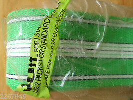 Folding Aluminum Lawn Chair Webbing Green Plastic approx 45 ft VTG package - $14.81