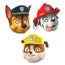 Paw Patrol 8 Paper Face Masks Birthday Party Rubble Chase Marshall - $5.34