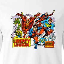 Liberty Legion T shirt retro Marvel Comics Bucky cotton long sleeve graphic tee image 2