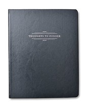 Metallic Charcoal 'Thoughts to Ponder' Journal - $14.84