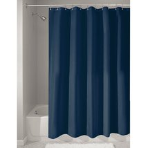 InterDesign Fabric Long Shower Curtain, Water-Repellent and Mold- and Mi... - $16.60