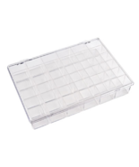"""NEW 36 Compartment Box 10x7"""" Clear Hinge Lid Stacking Bead Sewing Thread... - $14.15"""