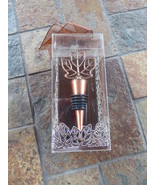 Kate Aspen Bottle Wine Stopper Fall In Love Copper Color Maple Leaf NIB - $6.00