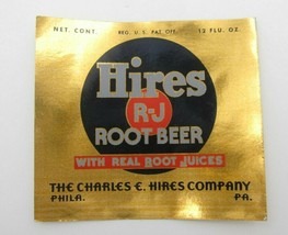 VTG Hires RJ Root Beer Real Root Juices 12 oz Charles E Hire Co Phila PA... - $79.20