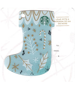 Starbucks 2016 Blue Stocking Mini Collectible Gift Card New Free Shipping - $4.99