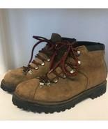 Raichle Vintage Hiking Mountaineering Boots Mens 6.5 M Brown Suede Switz... - $55.10