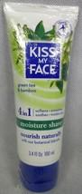 Kiss My Face Moisture Shave 4 In 1 Green Tea & Bamboo 3.4 Oz - $17.77