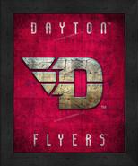 "Dayton Flyers ""Retro College Logo Map"" 13x16 Framed Print  - $39.95"