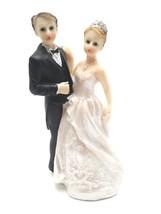 "Bride in Tiara and Groom in Black Tie Cake Top 4.75"" Tall - $5.93"