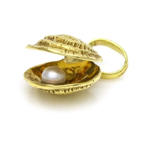 Links of London 18k Yellow Gold Seashell and Pearl Charm